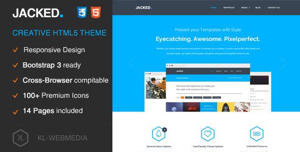 Jacked - Creative HTML5 Template