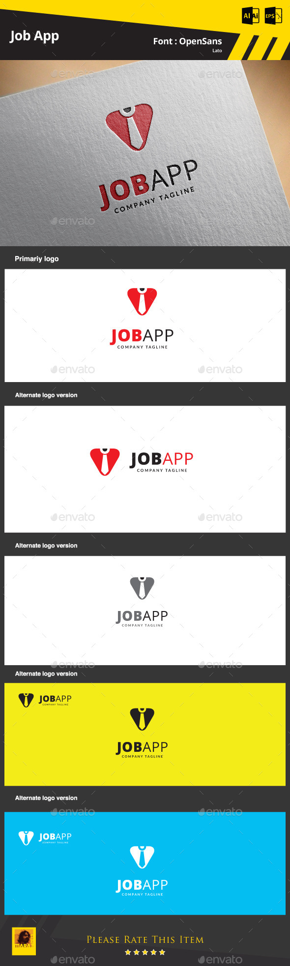 Job App Logo Template