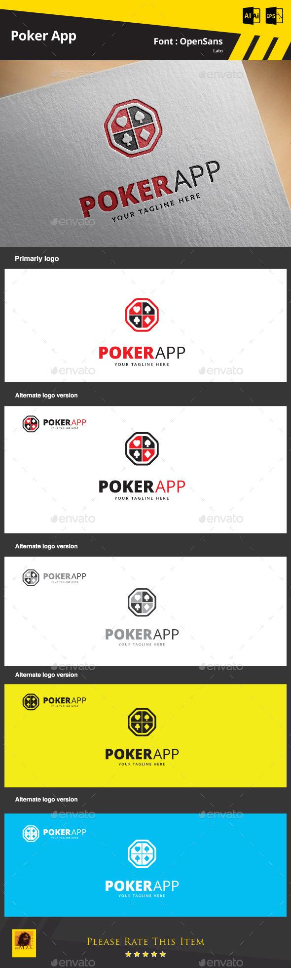 Poker App Logo Template