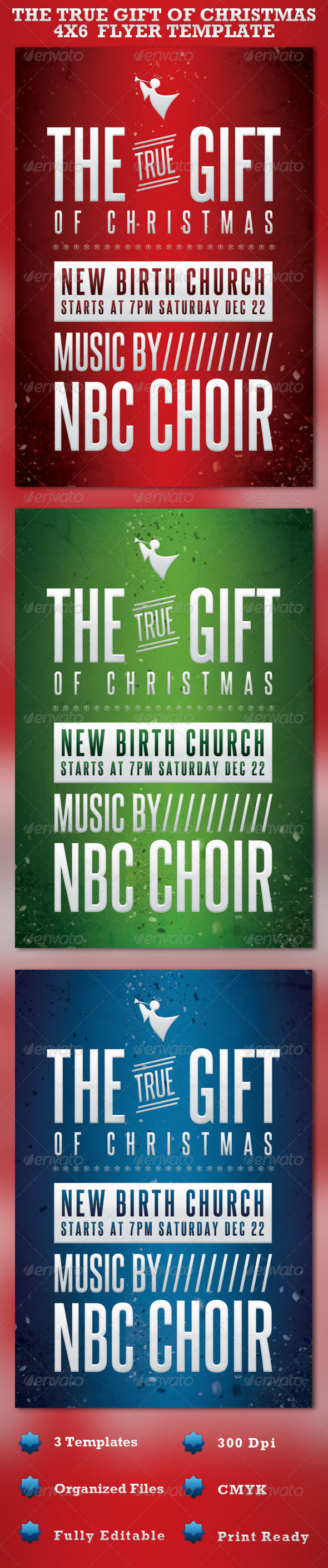 Christmas Event Flyer Graphics Designs Templates