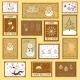 Postal Stamps with Christmas Illustrations - GraphicRiver Item for Sale