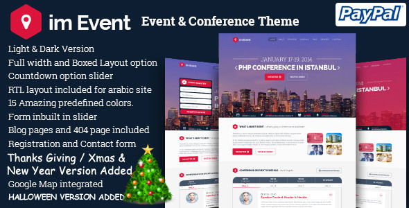 imEvent - Conference Landing Page HTML Template