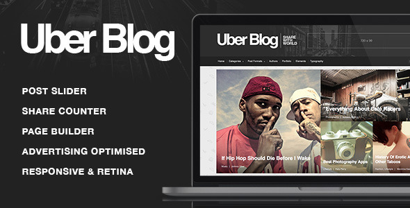 UberBlog - Blogging WordPress Theme