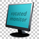 Rotated Monitor - Left & Right  - GraphicRiver Item for Sale