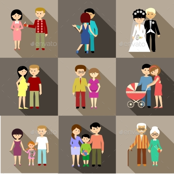 Flat Set of Family Life