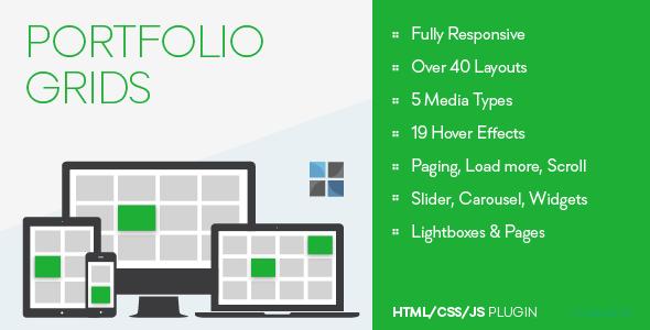 Portfolio Grids - HTML/CSS/JS