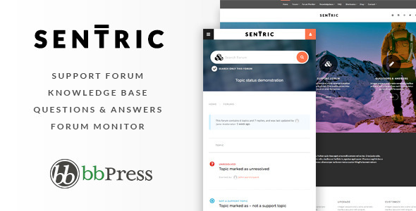 Sentric | Support Forum WordPress Theme
