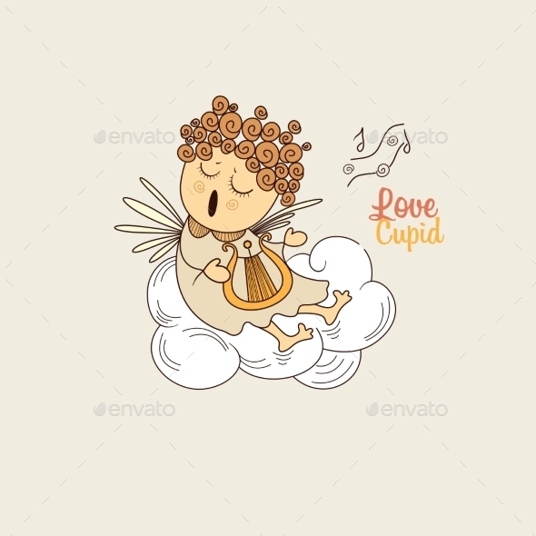 Cupid Playing the Harp