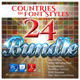 24 Countries in the Font Style Bundle - GraphicRiver Item for Sale