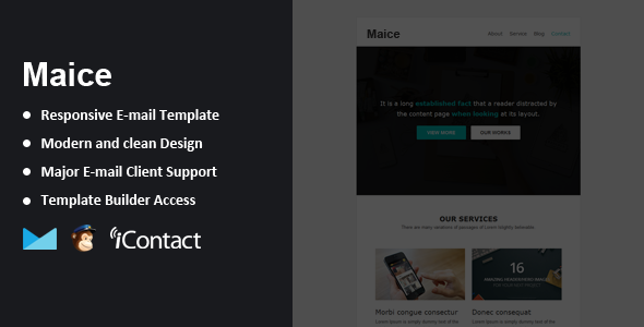 Maice - Responsive Email + Themebuilder Access