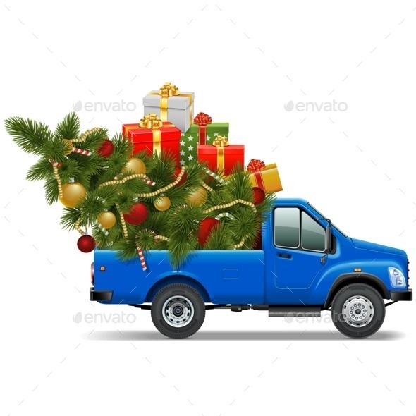 Vector Christmas Pickup