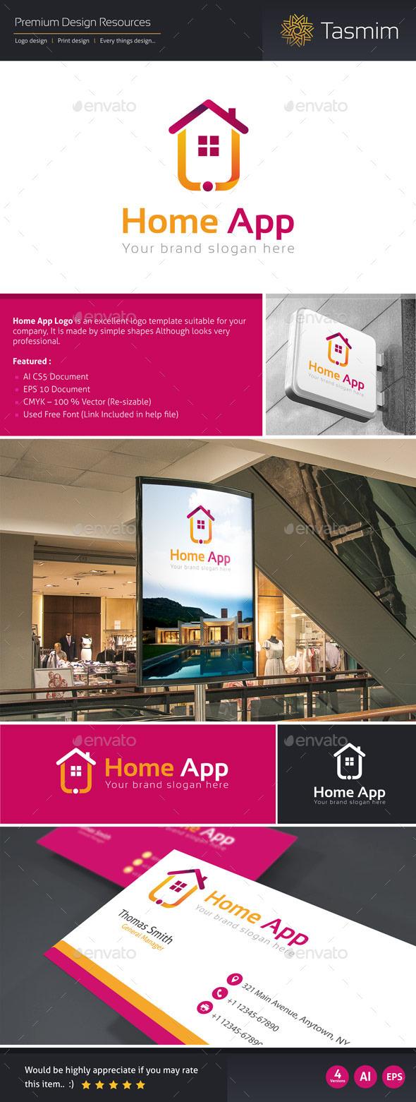 Home App Logo Template