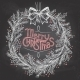 Christmas Wreath with Chalk - GraphicRiver Item for Sale
