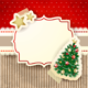 Christmas Background with Label and Tree - GraphicRiver Item for Sale