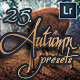 25 Professional Autumn Lightroom - GraphicRiver Item for Sale