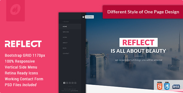 Side Menu Website Templates From Themeforest