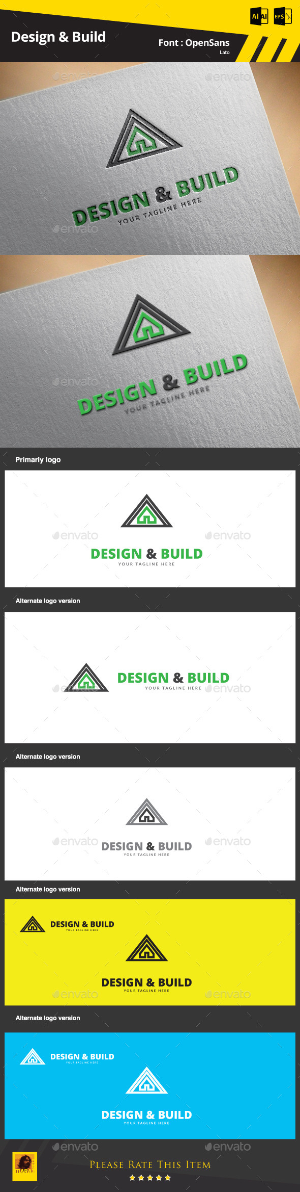 Design & Build Logo Template