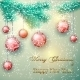 Christmas Illustration with Tree Branch - GraphicRiver Item for Sale