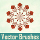 Watercolor Vector Snowflakes Pattern Brushes - GraphicRiver Item for Sale