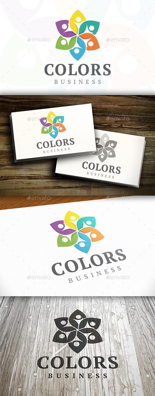 Kids Flower Logo