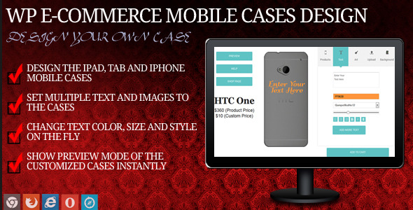 Mobile Case Design for WP eCommerce