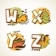 Alphabet Set from W to Z - GraphicRiver Item for Sale
