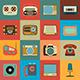 Retro Style Media Icons - GraphicRiver Item for Sale