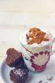 Christmas Coffee and Dessert. Christmas Background - PhotoDune Item for Sale