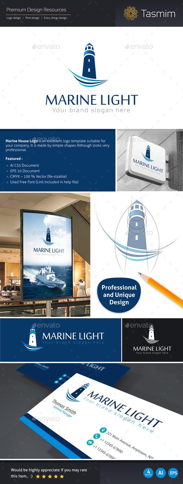 Marine Light Logo Template