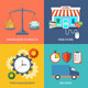 Set of Flat Design Concept Icons for Business - GraphicRiver Item for Sale