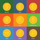 Flat Golden Coins. Currency Icons.  - GraphicRiver Item for Sale