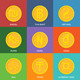 Flat Golden Coins Currency Icons - GraphicRiver Item for Sale