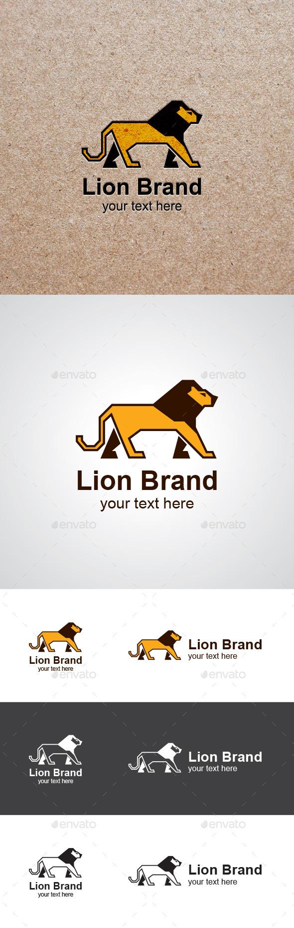 Walking Lion Vector Logo Design