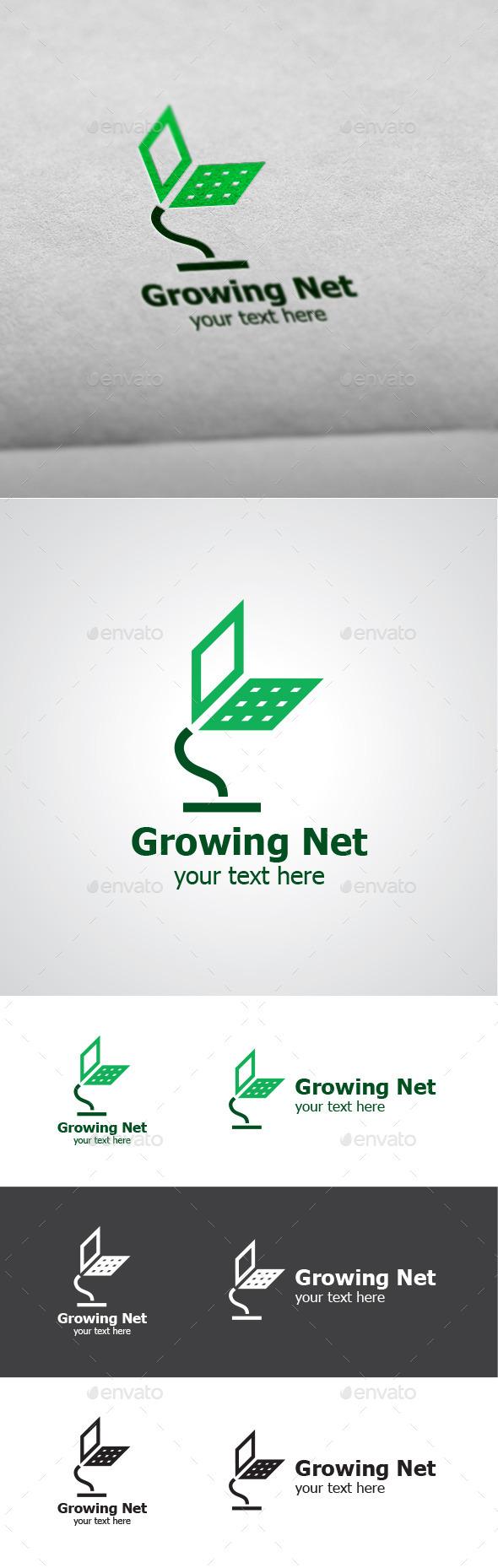 Growing Net Vector Logo Design