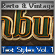 Retro & Vintage Text Styles Vol.1 - GraphicRiver Item for Sale