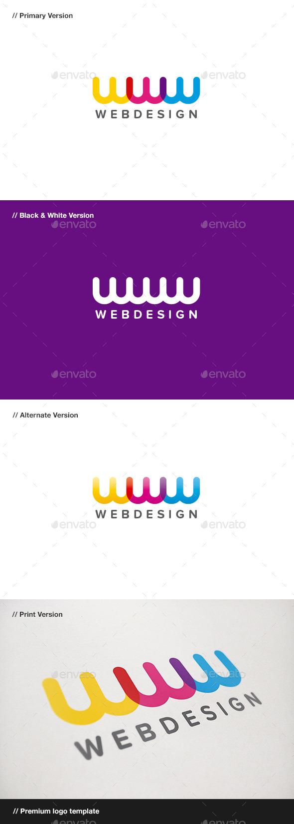 Web Design - Letter W Logo