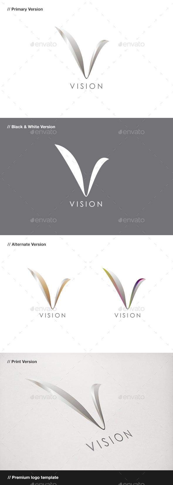 Vision - Abstract & Letter V Logo