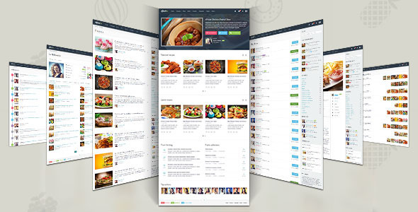 """Gustos - The complete UI for a """"recipe website"""""""