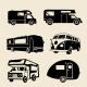 6 RV Camper Silhouettes - GraphicRiver Item for Sale
