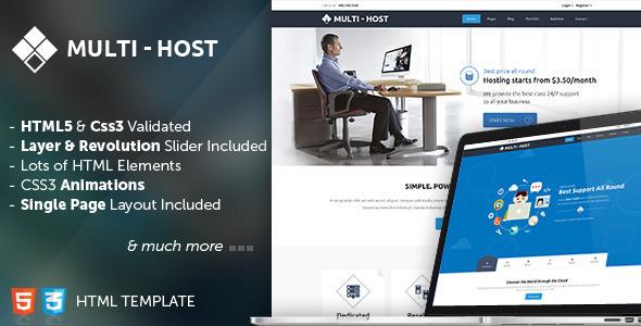 Multi Host - Responsive Hosting Template - Theme ... on