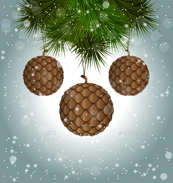 Brown Cones like Christmas Balls