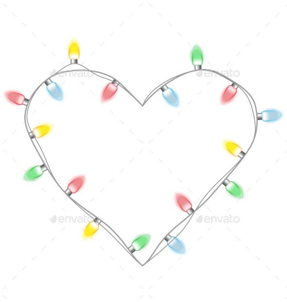 Christmas Lights Heart