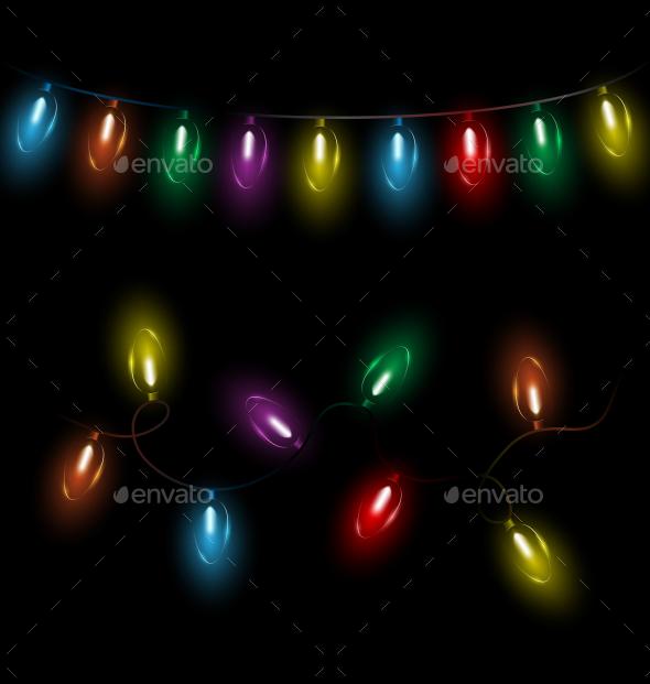 Variations of Christmas Lights Garlands