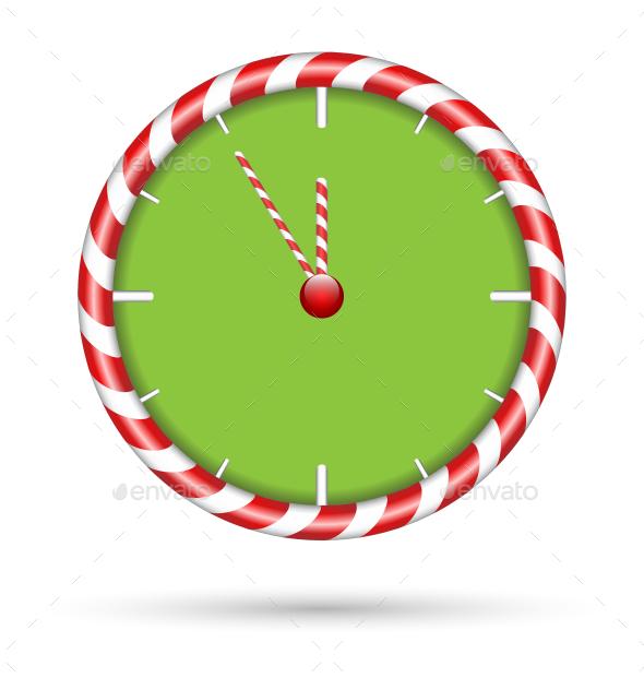 Candy Cane Clock
