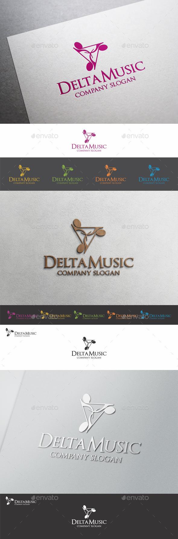 Delta Music Logo Template
