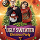 Ugly Christmas Sweater Party Flyer - GraphicRiver Item for Sale