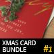 6 Christmas Greeting Cards - Golden Foil Design - GraphicRiver Item for Sale