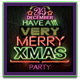 Neon Merry Christmas Flyer - GraphicRiver Item for Sale