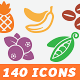 140 Food and Kitchen Icons - GraphicRiver Item for Sale