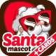 Santa Mascot And Christmas Card - GraphicRiver Item for Sale